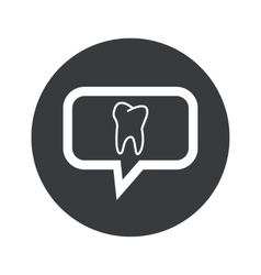 Round dialog tooth icon vector