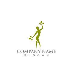 salon woman logo and symbols vector image