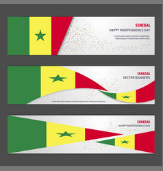 Senegal independence day abstract background vector
