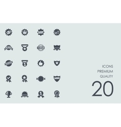 Set of premium quality icons vector