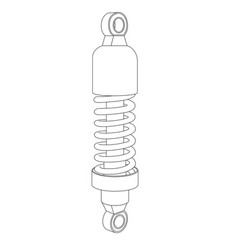 Shock absorber spare part for vehicles outline vector