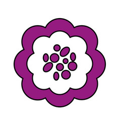 Single violet flower icon image vector