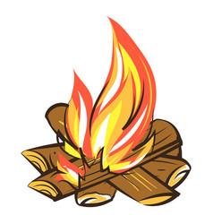 Smore campfire icon cartoon style vector