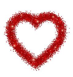 Sparkles heart frame isolated vector