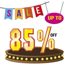 special 85 offer sale tag isolated vector image