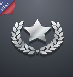 Star award icon symbol 3D style Trendy modern vector