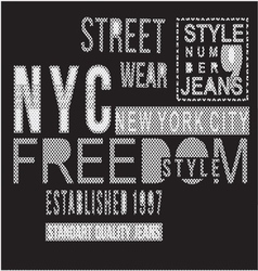 Street Style typography t-shirt graphics vector image