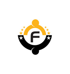 success life coaching initial f vector image
