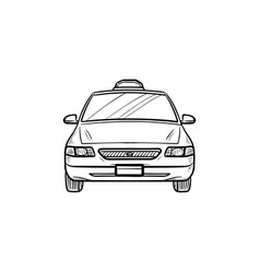 taxi hand drawn outline doodle icon vector image