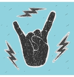 The Hand Symbol Heavy Metal vector image
