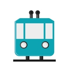 Tramway frontview icon vector