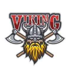 Viking warrior sport logo vector