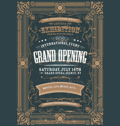Vintage design invitation background vector