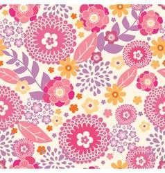 Warm summer plants seamless pattern background vector