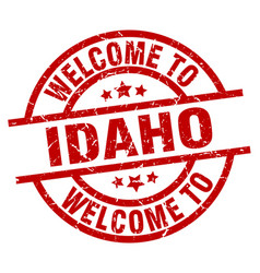 Welcome to idaho red stamp vector