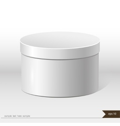 White packaging gift box on isolated background vector