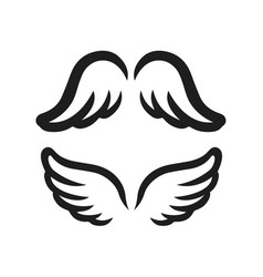 wings icon simple of bird or angel vector image