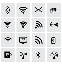 wireless icon set vector image