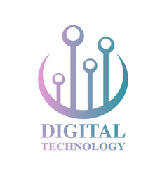World tech logo design template digital vector