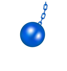 wrecking ball in blue design vector image