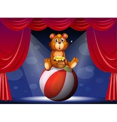 A circus show with a bear vector image vector image