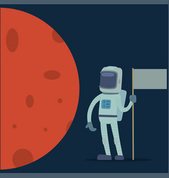 astronaut in space character having fun vector image