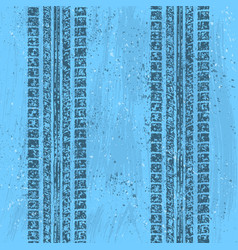 blue grunge tire track vector image