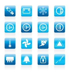 car dashboard icons vector image vector image