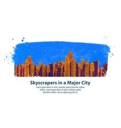modern city skyscrapers vector image