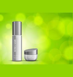 skin moisturizer cosmetic design template vector image vector image