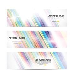 stripes header vector image vector image