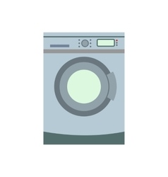 Washer flat icon vector