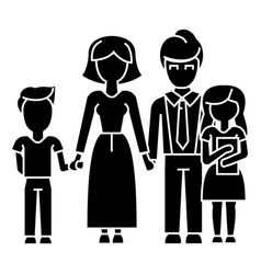 family son mother father daughter icon vector image