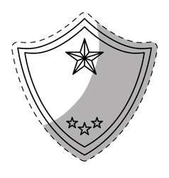 figure police badge icon image vector image