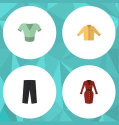 flat icon garment set of casual clothes banyan vector image vector image
