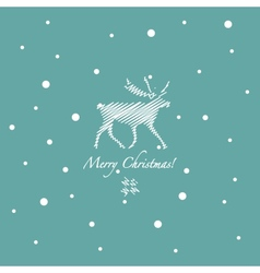 Grunge retro snowflakes and deer vector image vector image