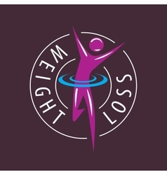 logo running man for weight loss vector image vector image