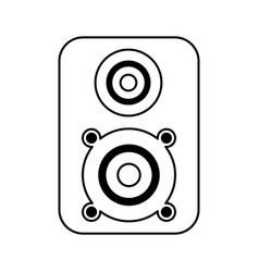 speaker music isolated icon vector image