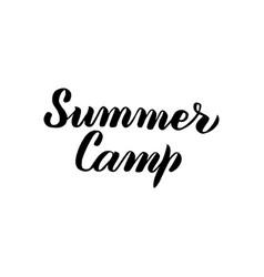 summer camp handwritten calligraphy vector image vector image