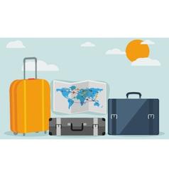 Travel background isolated on stylish background vector image