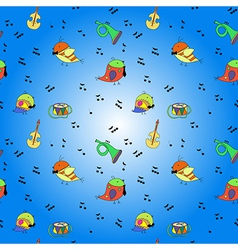 bird musical instrument note vector image