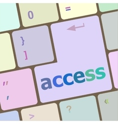 computer keyboard pc with Access text vector image vector image