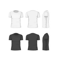 Man t-shirt cotton clothing vector