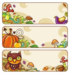 autumn banners part 4 vector image