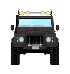 Black offroad car truck 4x4 vector image