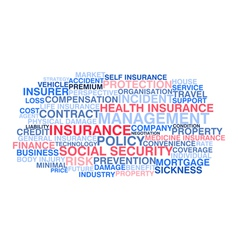 Insurance Word cloud vector image