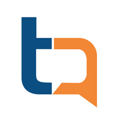 letter t and a chat sign logo design vector image