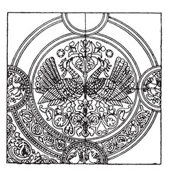 medieval textile pattern is a richly embroidered vector image