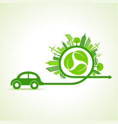 save nature concept with ecocity vector image vector image