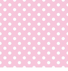 Seamless pattern polka dots on pink background vector image vector image